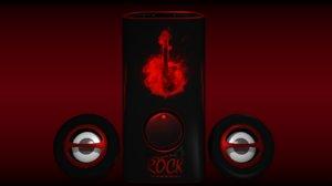 3d musical speaker rock