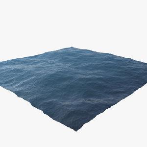 3d ocean scene model