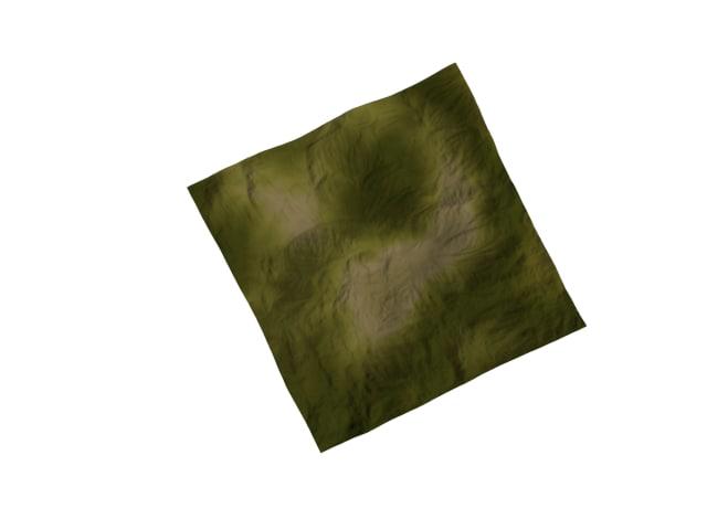 forest landscape 3d model