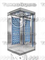 3d elevator lift passenger