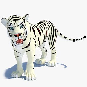 max cartoon tiger white rigged