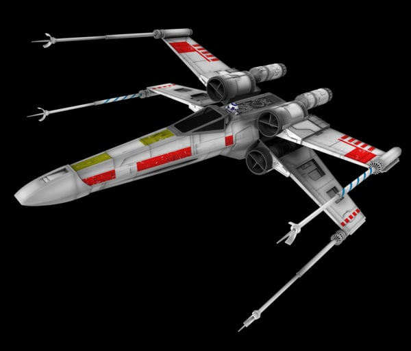 3d star wars x-wing fighter model