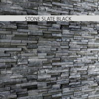 stone slate black 3d max