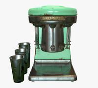 vintage milkshake mixer - 3d model