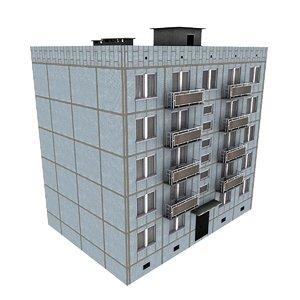 3d 5-storey russian building kpd-4570-73