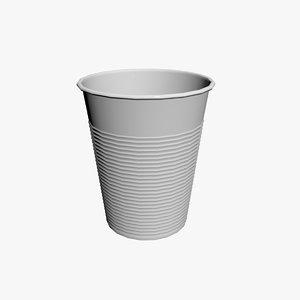 plastic cup 3d max