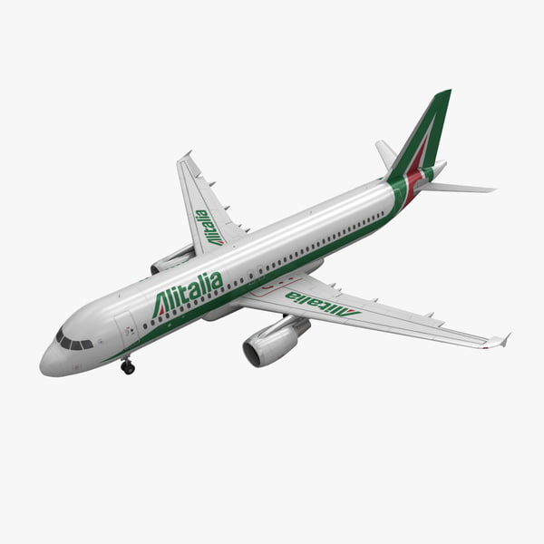 airbus a320 alitalia animation 3d model