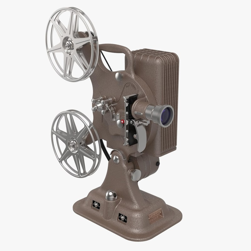 3d model keystone a-81 16mm film projector
