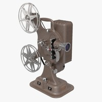 3d model keystone a-81 16mm film projector