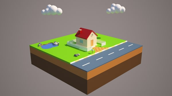 3d house asset effects