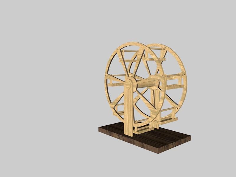 3d model wheel fortune