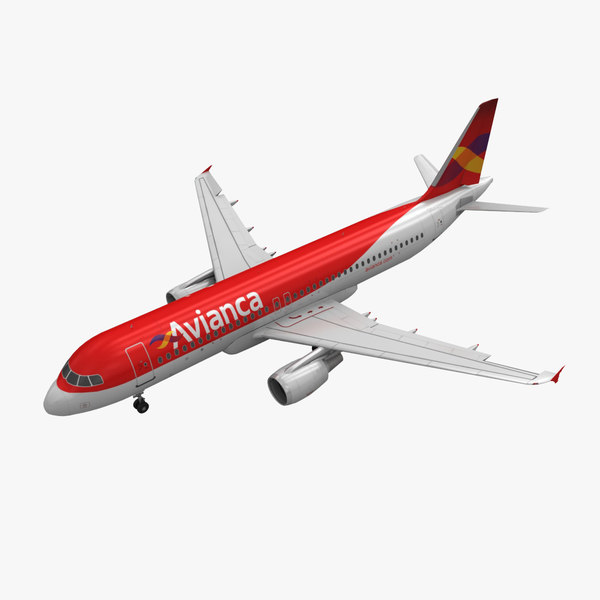 airbus a320 avianca animation 3ds