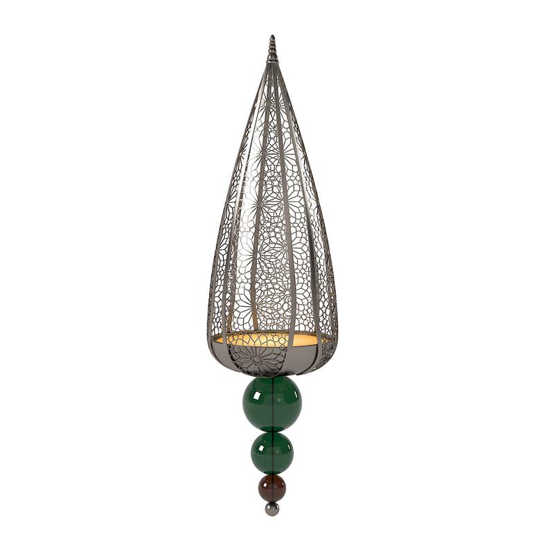 3d ashoka pearl oriental pendant model