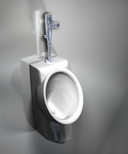 3d model american urinal