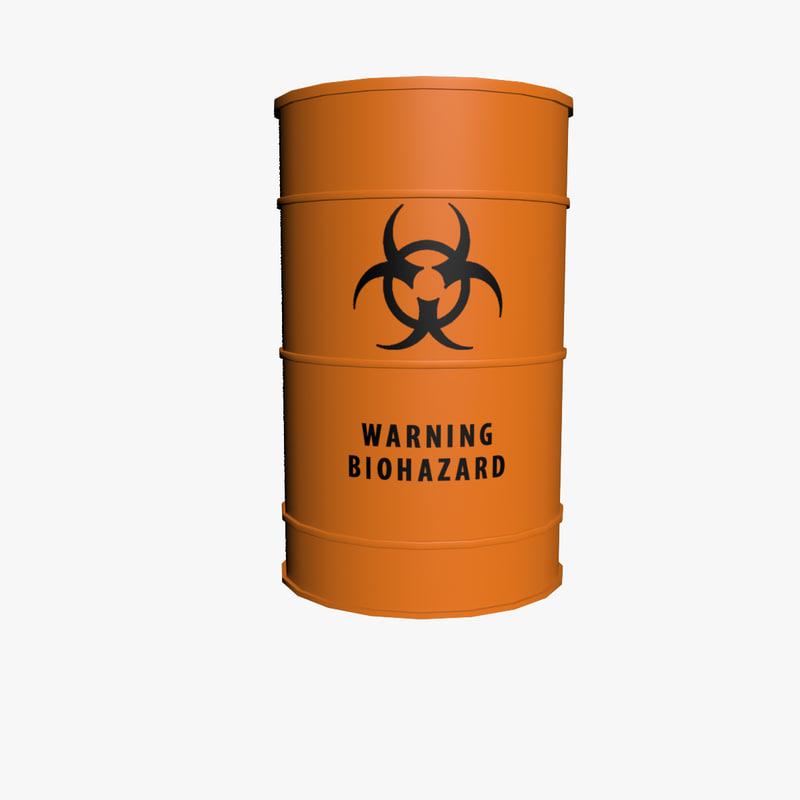 3d barrel biohazard model