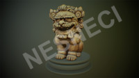 obj foo dog guardian lion