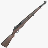 american m1 garand rifle obj