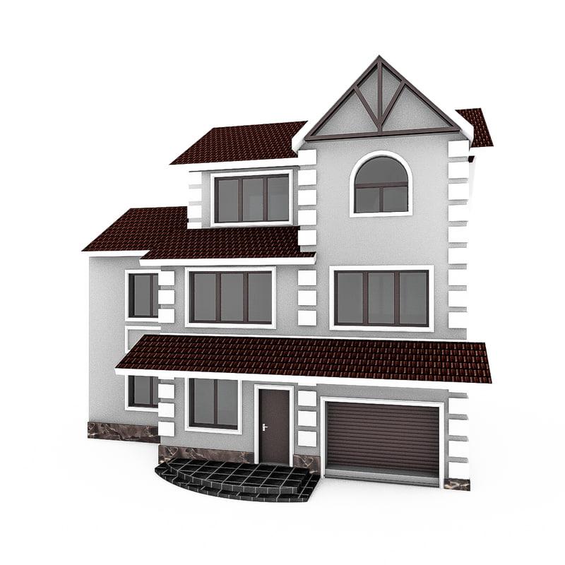 modular townhouse 3d model