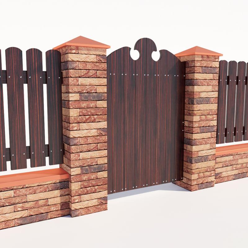 fence riga 3d model