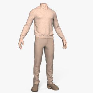 3ds clothing men mannequin