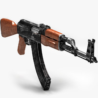rifle ak-47 3d model