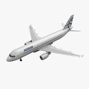 3d airbus a320 aegean airlines