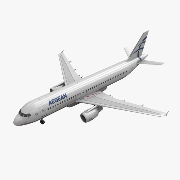 airbus a320 aegean airlines 3d 3ds