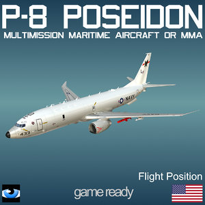 3d p-8 poseidon flight position model