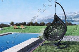 chair maffam ibiss 3d model