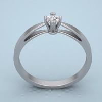 print silver ring 3d obj