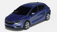 3d 2016 opel astra interior car
