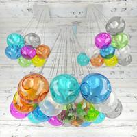 3d model bubble lamp lights