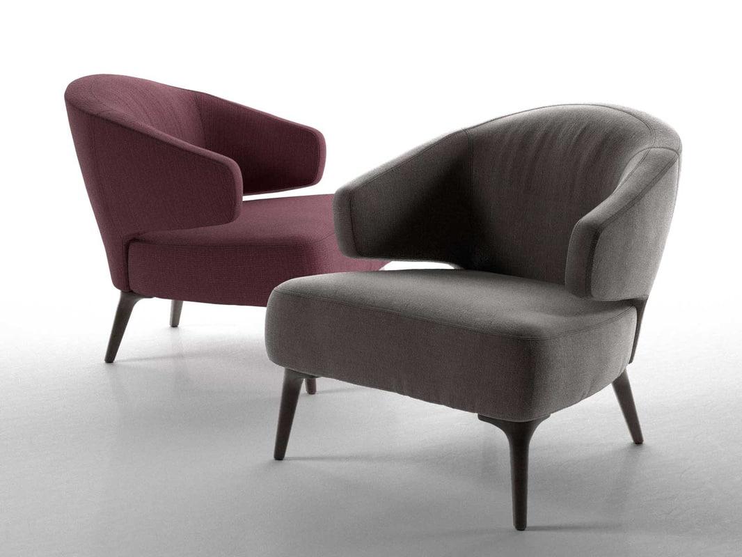 aston armchair 3d obj