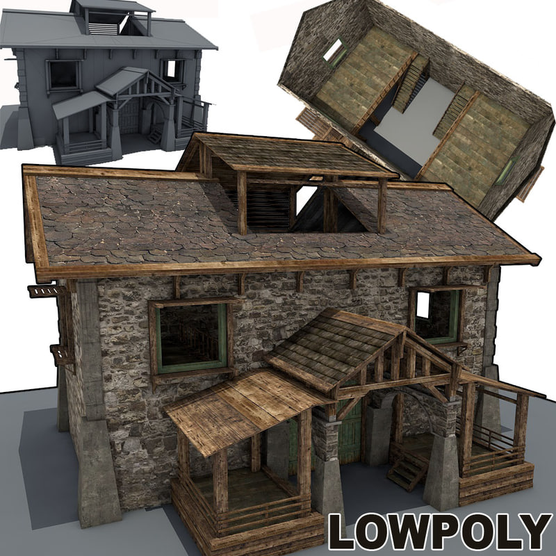 stone farm building 3d model
