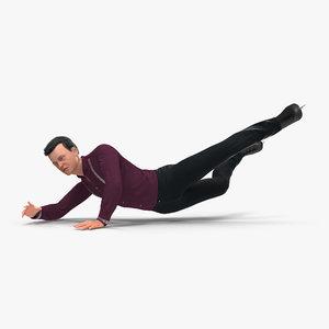 male figure skater falling max