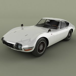 1967 toyota 2000gt 3d model