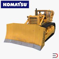 3d model of bulldozer komatsu