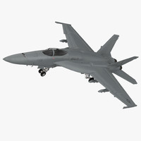 3d fighter fa 18ef super hornet model