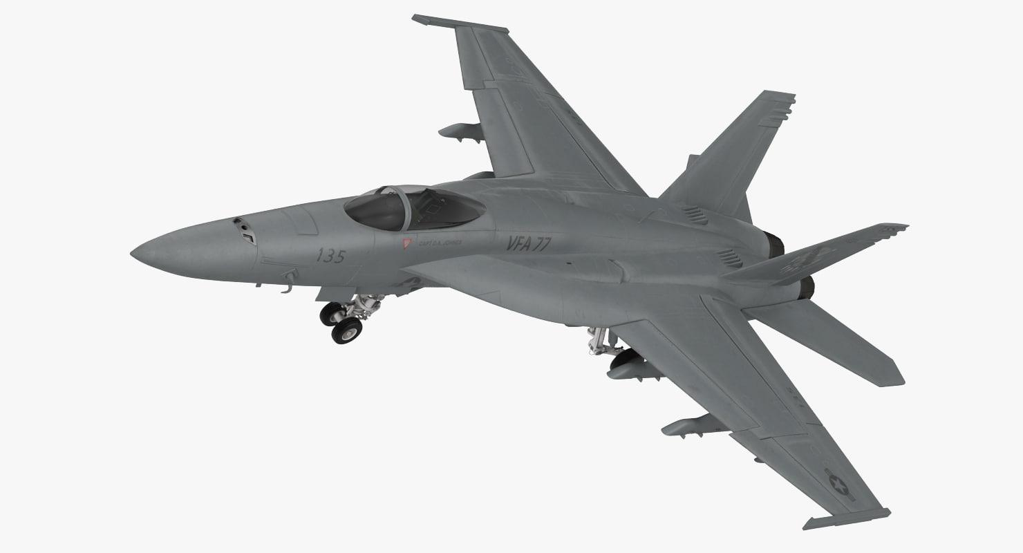 3d fighter fa 18ef super hornet model