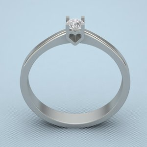 ring print silver 3d obj