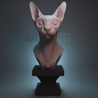 3d sculpture bastet model