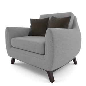 3d model calhoun chair