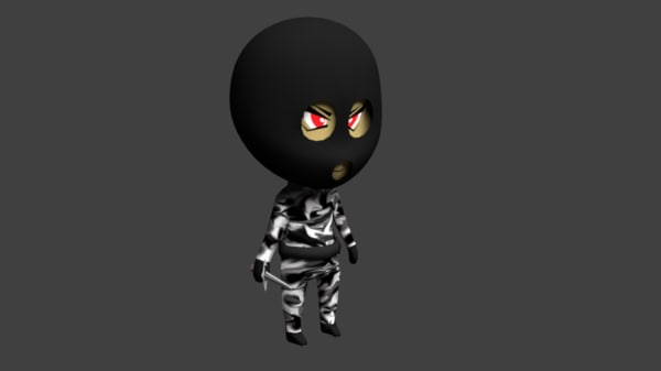 chibi animations rigging blend
