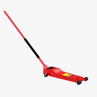 floor jack red 3d model