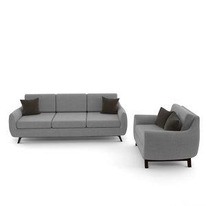 calhoun sofa 3d model