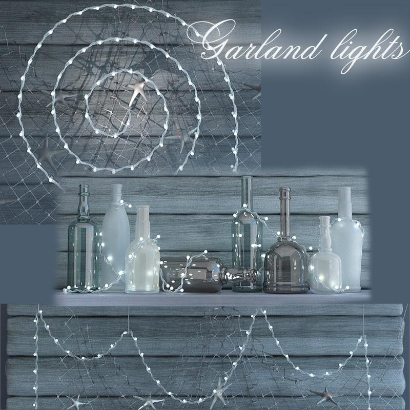 garland lights 3d model