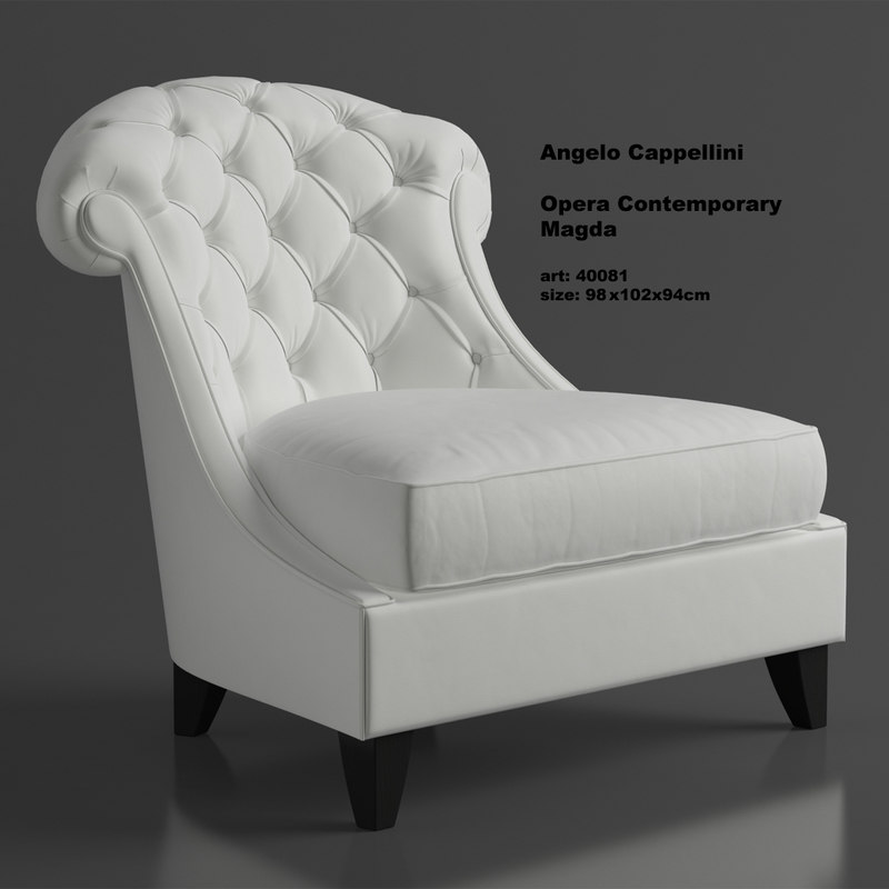 leather armchair angelo cappellini max