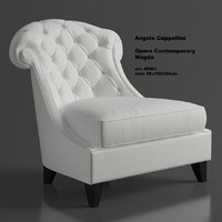Leather armchair Angelo Cappellini Magda