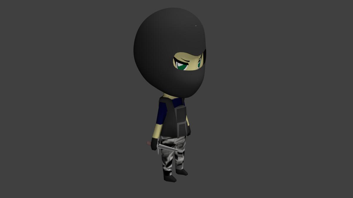 3d chibi terrorist model