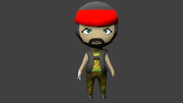 chibi animations rigging 3ds